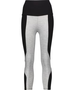 Live The Process | Cropped Two-Tone Stretch-Supplexreg Leggings