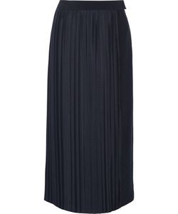 Adam Lippes | Plissé-Satin And Crepe Wrap Skirt