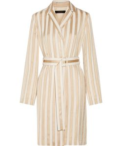 The Row   Stervis Belted Striped Jacquard Coat