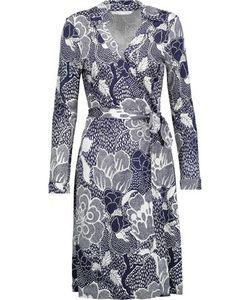 Diane von Furstenberg | Jeanne Wrap-Effect Printed Silk-Jersey Dress Midnight