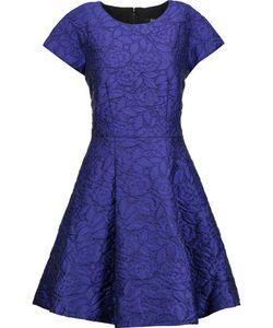 Badgley Mischka | Pleated Cloqué Mini Dress