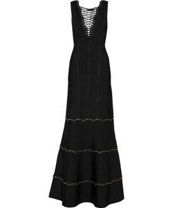 Hervé Léger | Lace-Up Bandage Gown