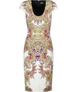 Just Cavalli | Cutout Printed Stretch-Jersey Dress