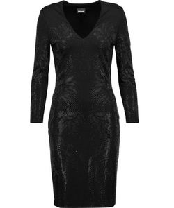 Just Cavalli | Studded Stretch-Satin Mini Dress
