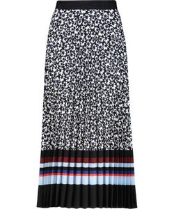 Mother Of Pearl   Kitty Printed Plissé Crepe De Chine Skirt