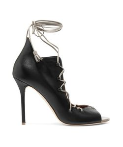 Malone Souliers | Savannah Lace-Up Leather Sandals