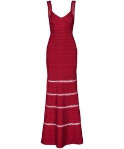 Hervé Léger | Rilla Crochet-Trimmed Bandage Gown