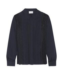 Tanya Taylor | Estelle Lace-Paneled Silk Crepe De Chine Shirt