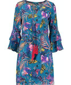 Matthew Williamson | Ruffled Printed Silk Dress