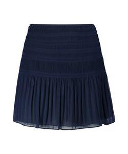 Diane von Furstenberg | Tayte Ruched Chiffon Mini Skirt Midnight