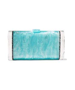 Edie Parker | Lara Backlit Paneled Glitte Acrylic Box Clutch