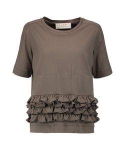 Marni | Ruffled Cotton-Jersey Top