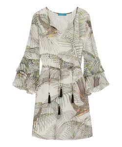 Matthew Williamson | Ruffled Printed Silk Dress Off-