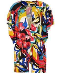 Norma Kamali | Printed Stretch-Jersey Playsuit