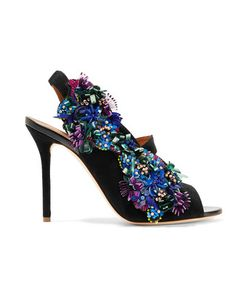 Malone Souliers | Moira Embellished Suede Sandals