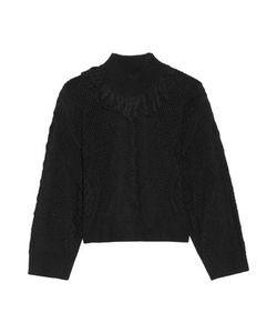 Tanya Taylor | Ruth Fringed Open-Knit Alpaca-Blend Sweater