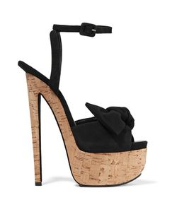 Giuseppe Zanotti | Bow-Embellished Suede Sandals