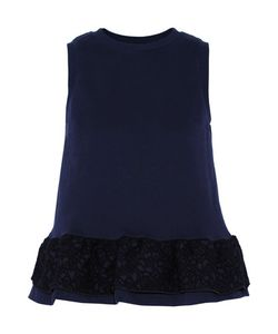 Mother Of Pearl   Averil Embroide Cotton Peplum Top Storm