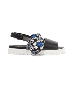 Mother Of Pearl   Ordell Bow-Embellished Leather Sandals