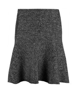 See by Chloé   Houndstooth Cotton And Wool-Blend Skirt