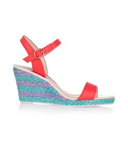 Sophia Webster | Lucita Leather Espadrille Wedge Sandals