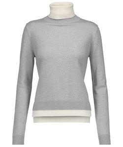 Adam Lippes | Two-Tone Merino Wool Turtleneck Sweater