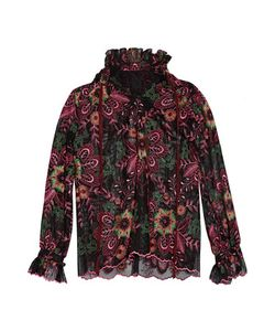 Anna Sui | Ruffled Embroide Tulle Top