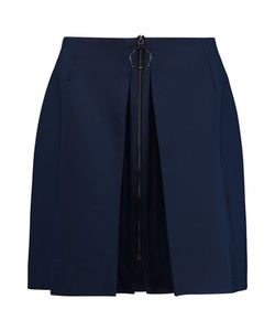 Mother Of Pearl   Thea Wool-Blend Crepe Mini Skirt