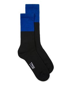 Topman | Mens And Cobalt Colour Block Tube Socks