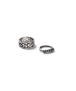 Topman | Mens Brushed Look Knot Ring 2 Pack