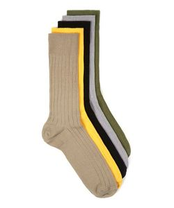 Topman | Mens Multi Assorted Colour Ribbed Textu Socks 5 Pack