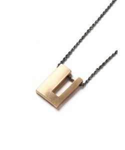 Topman | Mens Mixed Metal Geo Pendant Necklace
