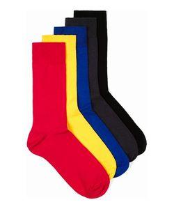 Topman | Mens Multi Assorted Colour Plain Socks 5 Pack