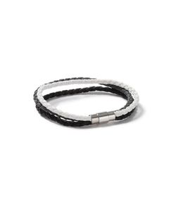 Topman | Mens Faux Leather Wrap Bracelet