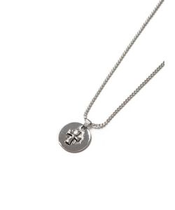 Topman | Mens Look Disk Cross Necklace