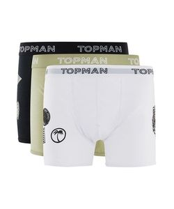 Topman | Mens Multi And Badged Trunks 3 Pack