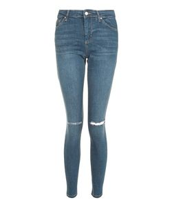 TopShop | Moto Dark Ripped Leigh Jeans