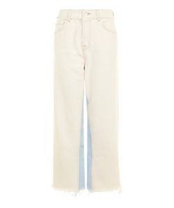 TopShop | Moto Panel Insert Cropped Wide Leg Jeans