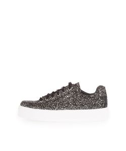 TopShop | Commander Glitter Flatforms Trainers