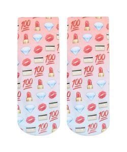 TopShop | Emoji Print Socks By Living Royal