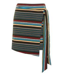 TopShop   Bright Stripe Wrap Skirt