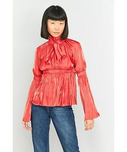 Angel Chen | Bow Gathering Long Sleeve Blouse
