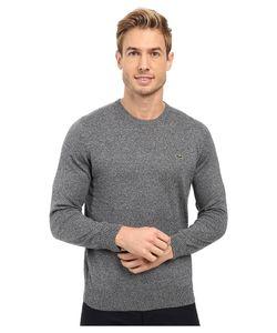 Lacoste | Segment 1 Cotton Jersey Crew Neck Sweater Navy