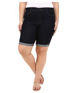 NYDJ Plus Size   Plus Size Briella Roll Cuff Shorts Dark