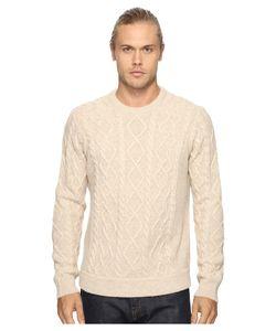 Original Penguin | Long Sleeve Wool Alpaca Fisherman Sweater