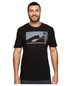 Puma | Mono Suede Tee Dark Shadow Clothing