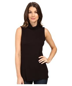 B Collection by Bobeau | Sloan Ribbed Sleeveless Turtleneck Tee