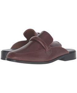 Newbark   Melanie Mule Cognac Embossed Lizard Clog/Mule Shoes