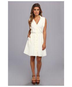 Lacoste | Sleeveless Stripe Seersucker Shirtdress /Jonquil Yellow Womens Dress