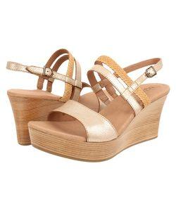 UGG | Lira Washed Leather Womens Wedge Shoes